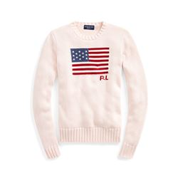 Polo Ralph Pink Pony Flag Sweater