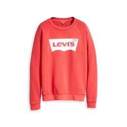 Levi's Women's red Relaxed Graphic Crew Better Fleece House
