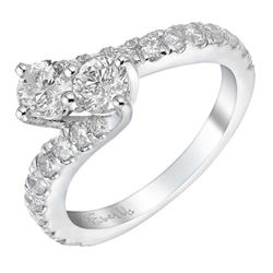 Signet Ever us two stone twist 14ct white gold 1.5 carat diamond ring