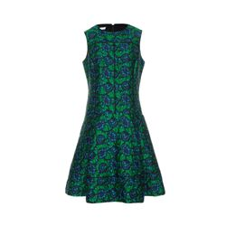 Oscar de la Renta  Green jacquard dress from Bicester Village