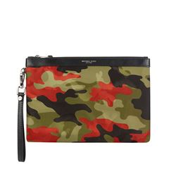 Travel pouch in green by Michael Kors Mens at Ingolstadt Village