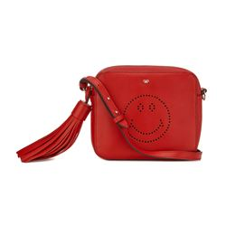 Anya Hindmarch smiley cross body bag in red