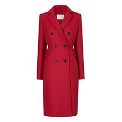 L.K.Bennett Caleste cranberry double breasted coat