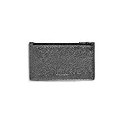 Coach Men's gunmetal Zip Card Case in Metallic
