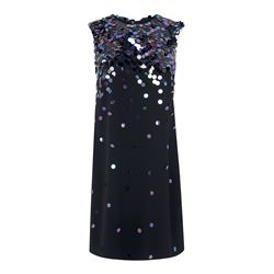 L.K Bennett Essa black sequin dress