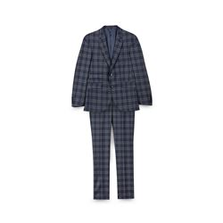 Checked suit jacket