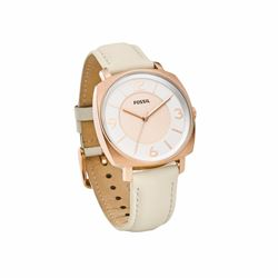 Blakely white leather watch