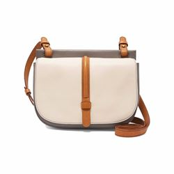 Collette small cross-body coconut satchel