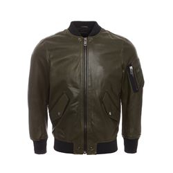Diesel Green leather bomber from Bicester Village