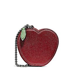 Coin case in red