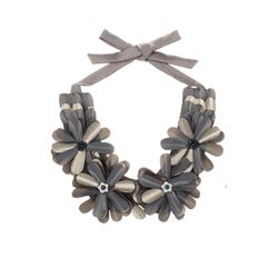 Anne Fontaine grey floral necklace