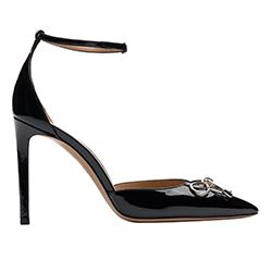 Bally - Black stilettos with silver lace