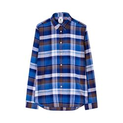 Paul Smith Navy Check Mens Tailored Fit Shirt