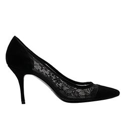 Sandro - Black stilettos with lace detail