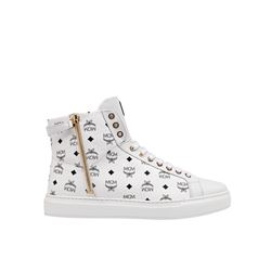 MCM  High top logo white slip-on from Bicester Village