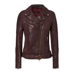 Twin Set - Burgindy biker jacket