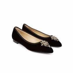 Hobbs Velvet pumps in black with embellishment