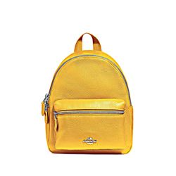 Canary Pebbled Leather Mini Charlie Backpack