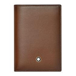 Mont Blanc Men's brown Business Card Holder Meisterstück