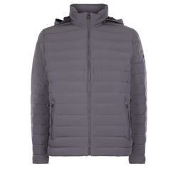 Down jacket in grey by Michael Kors at Ingolstadt Village