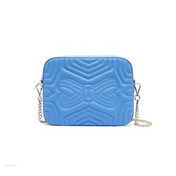 Ted Baker Blue Quilted Camera Bag