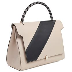 Anya Hindmarch Bathurst small satchel in grey and white capra