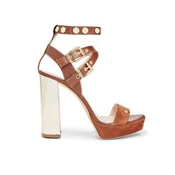 Brown heeled shoe