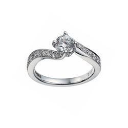 L'Atelier Tolkowsky 18ct white gold diamond twist ring