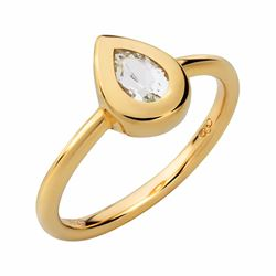 Links of London Rose Due ring in yellow gold