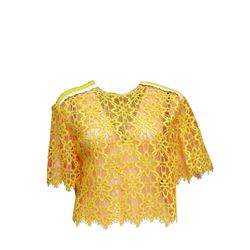 Shirt lace in yellow by Tara Jarmon at Ingolstadt Village