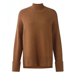 Jigsaw Knit polo neck in camel