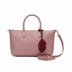 Frances nude rose leather tote