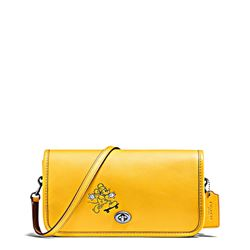 Women's bag 'Mickey Leather Penny Crossbody' in yellow by Coach at Ingolstadt Village