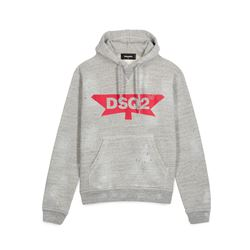 Dsquared2, Sweat à capuche gris homme