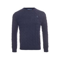 Polo Ralph Lauren Worth navy heather long sleeve cable sweater