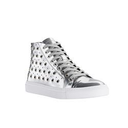 Sneaker in silver by Versace at Ingolstadt Village