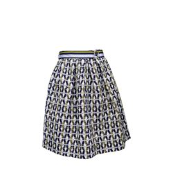 Skirt patterned in yellow and light blue Tara Jarmon at Ingolstadt Village