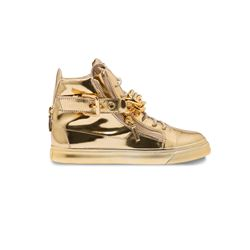 Gold men' sneakers