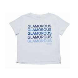 Guess Women's White Print T-Shirt