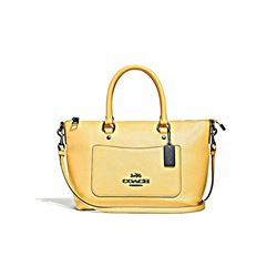 Pebbled Leather Mini Emma Satchel