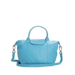 Longchamp, Le Pliage blue satchel