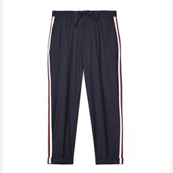 Navy Pants With White Stripe