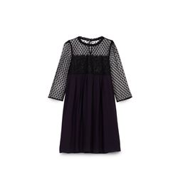 CLAUDIE PIERLOT, Black and navy lace dress