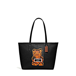 'Gummy Br City Zip' Tote in Black by Coach at Ingolstadt Village