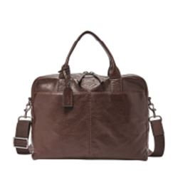 Fossil Wyatt workbag in deep brown