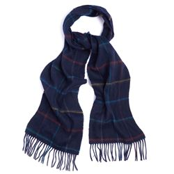 Barbour Men's Blue Striped Scarf