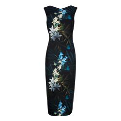 Twilight Floral Fitted Dress