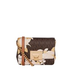 Michael Kors Camo Rose Tina clutch in brown at Ingolstadt Village