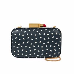 Lulu Guinness Fifi mini lip print clutch