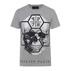 Grey skull T-shirt man
